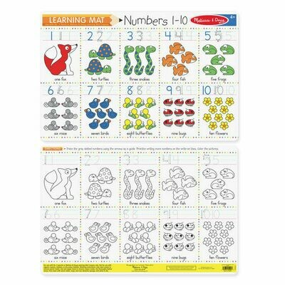 Numbers 1-10 learnig mat