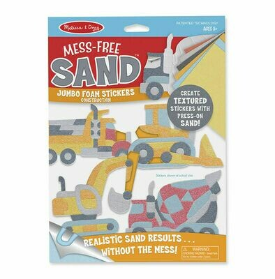 Mess-Free Sand Jumbo Foam Stickers - Construction