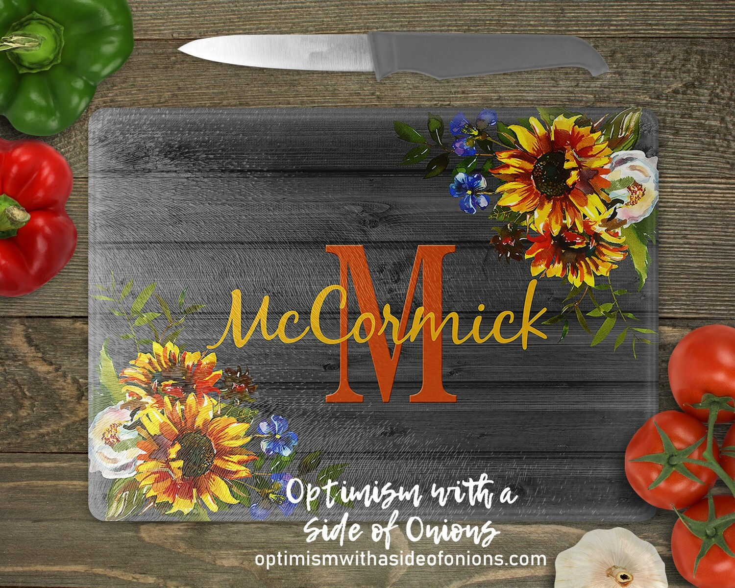 Cutting Board featuring Last Name