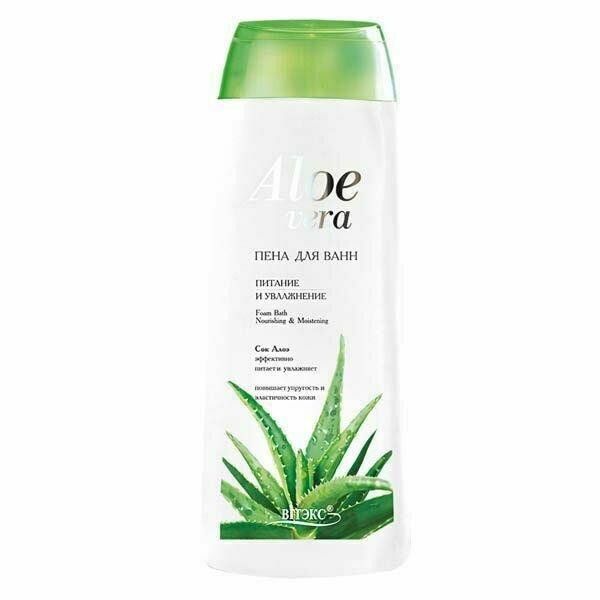 Витэкс | Aloe vera | Пена для ванн Питание и увлажнение, 500 мл