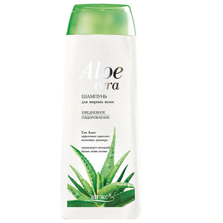 Витэкс | Aloe vera | Шампунь для жирных волос «Ежедневное оздоровление», 500 мл
