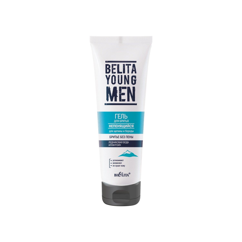 Белита   BELITA YOUNG MEN   ГЕЛЬ для бритья, не пенится для щетины и бороды, 100 мл