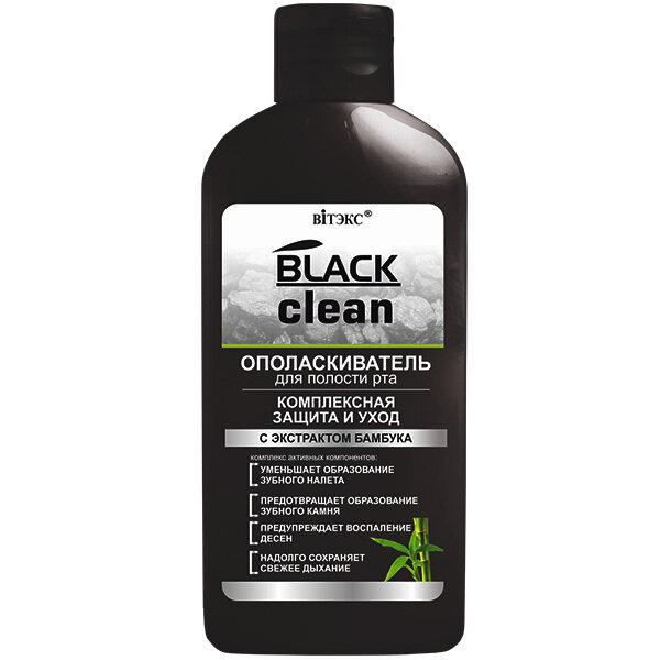 Витэкс | BLACK CLEAN | Ополаскиватель для полости рта Комплексная защита и уход, 285 мл