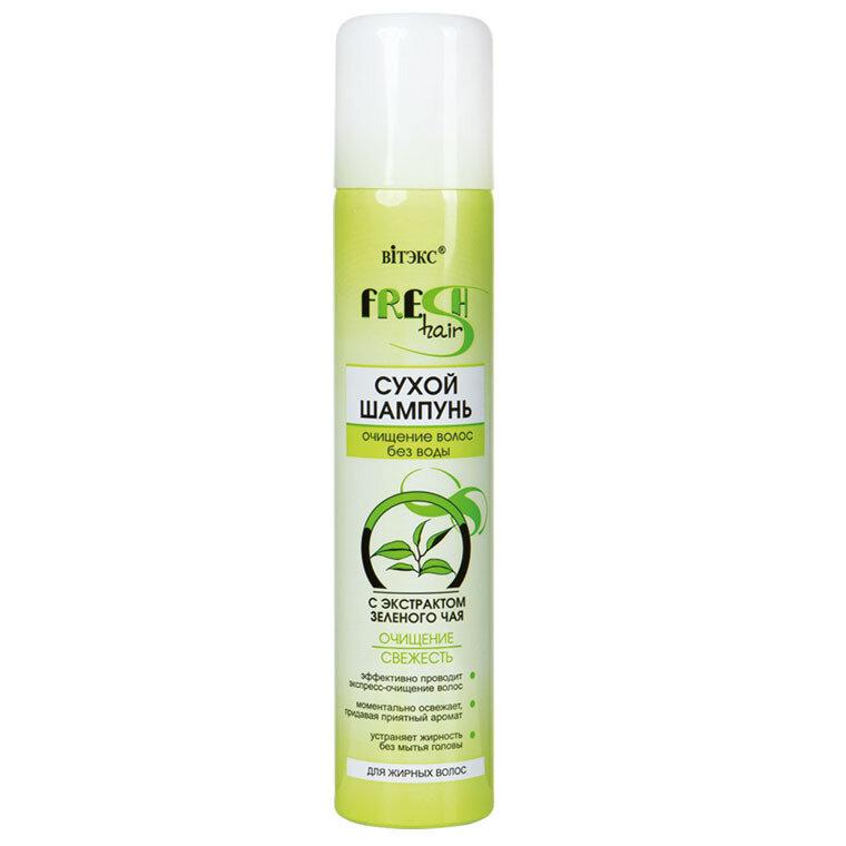 Витэкс | Fresh Hair | Сухой шампунь с экстрактом зеленого чая, 200 мл