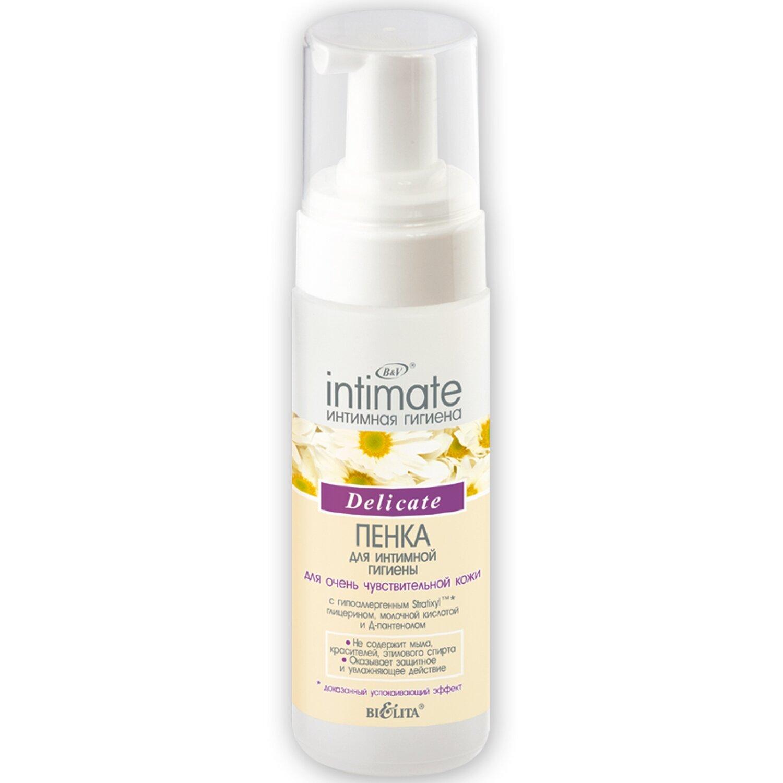 Белита   Intimate   Пенка для интимной гигиены для очень чувствительной кожи Delicate, 175 мл