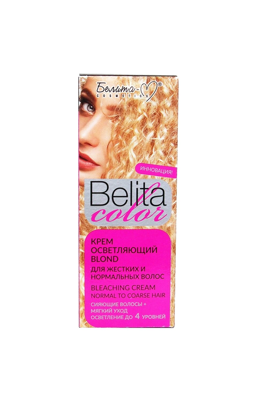 """КРАСКА стойка с витаминами для волос Belita Сolor   КРЕМ осветляющий """"Blond"""" для жестких и нормальных волос   Belita-M"""