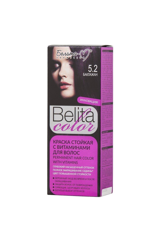 КРАСКА стойка с витаминами для волос Belita Сolor | тон 05.2 Баклажан | Belita-M