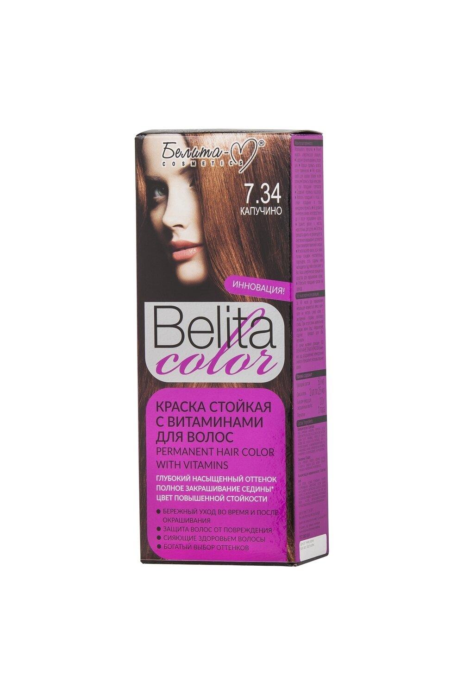 КРАСКА стойка с витаминами для волос Belita Сolor | тон 07.34 Капучино | Belita-M