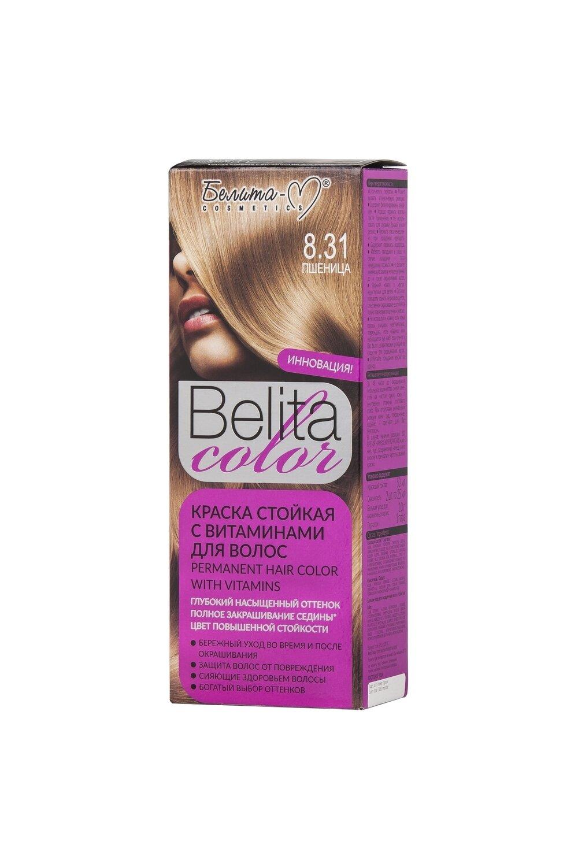 КРАСКА стойка с витаминами для волос Belita Сolor   тон 08.31 Пшеница   Belita-M