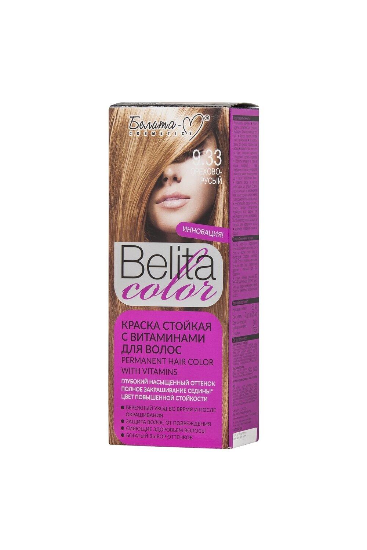 КРАСКА стойка с витаминами для волос Belita Сolor | тон 09.33 Орехово-русый | Belita-M