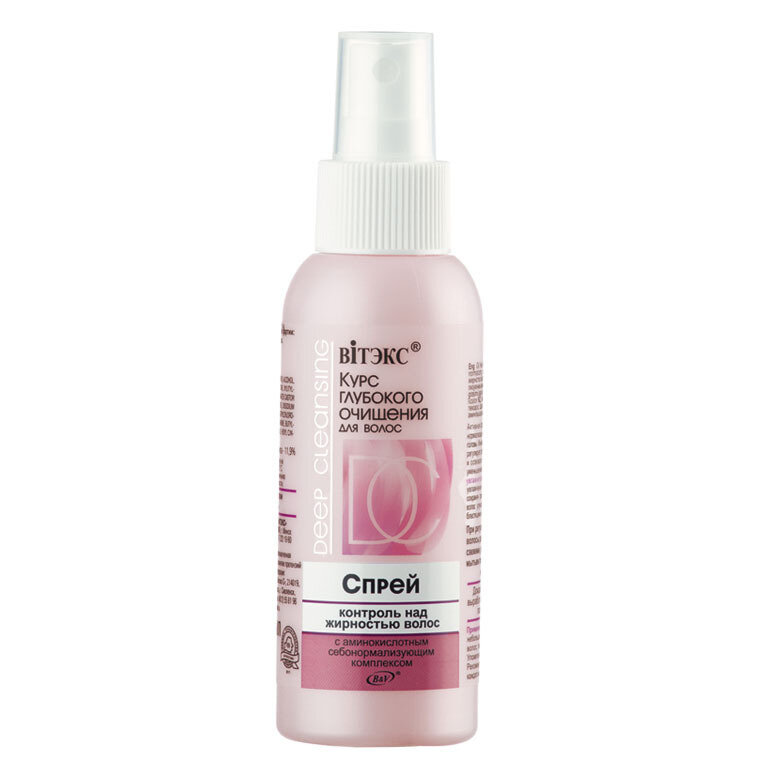 Витэкс | Курс глубокой очистки -  для волос СПРЕЙ контроль над жирностью волос, 100 мл