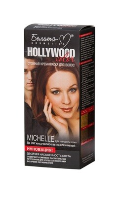КРЕМ-КРАСКА стойка для волос Hollywood color | тон 397 Michelle (махагоново светло-коричневый) | Belita-M
