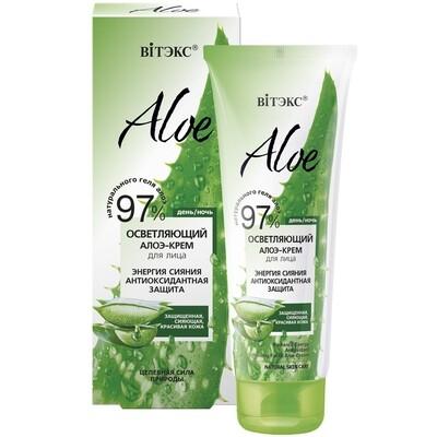 Витэкс | ALOE 97% | Осветляющий алоэ-крем для лица «Энергия сияния. Антиоксидантная защита»