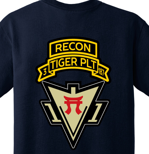 3-187th HHC Tiger PLT Shirt