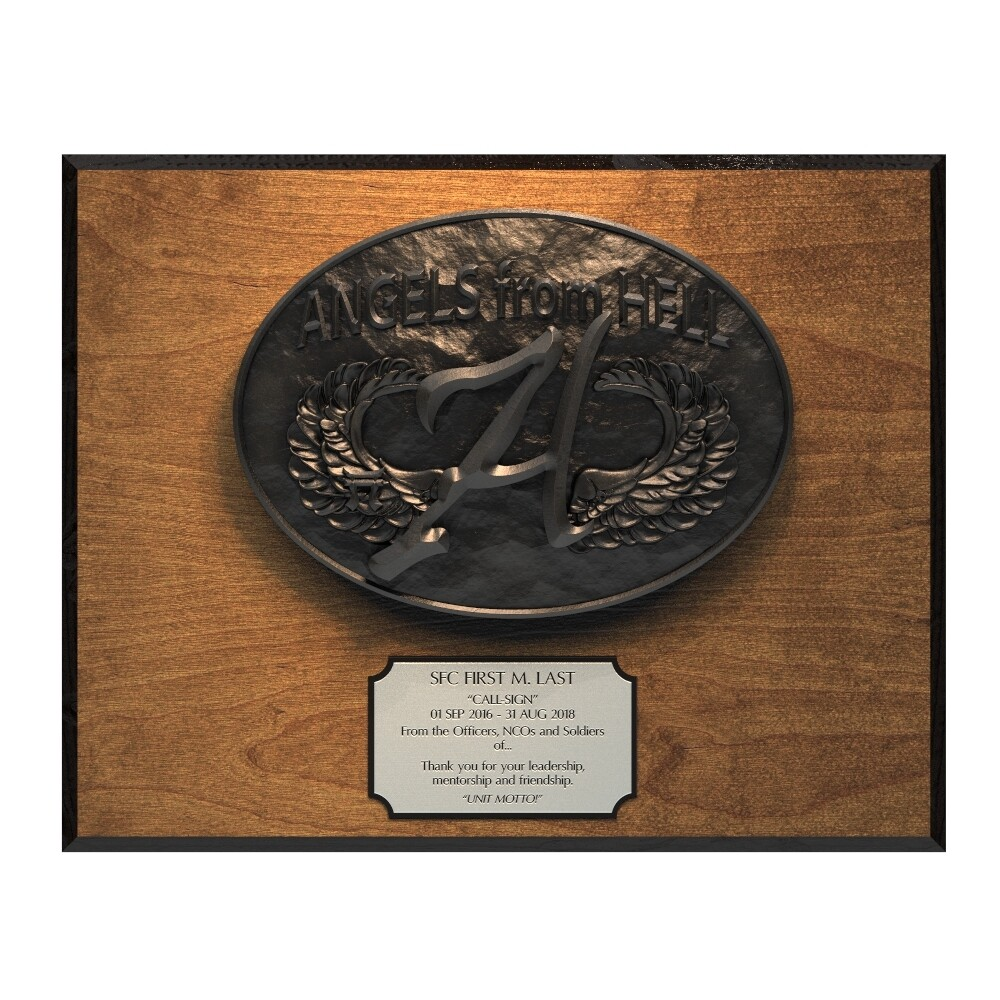 Angels From Hell Plaque