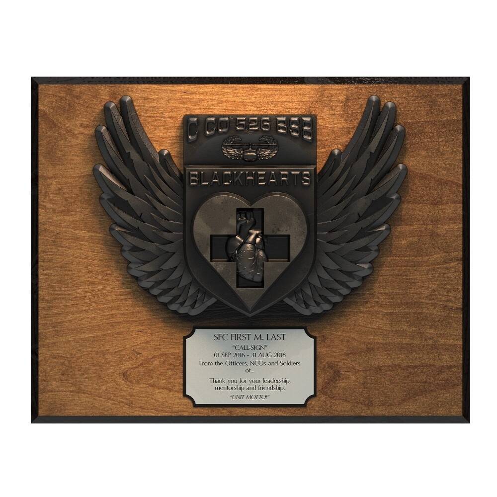 Blackhearts Plaque