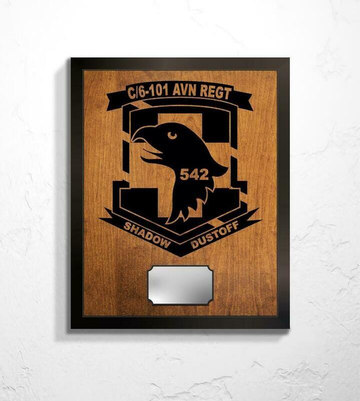 C Co. 6-101 AVN REGT - Shadow Dustoff Plaque 20.5