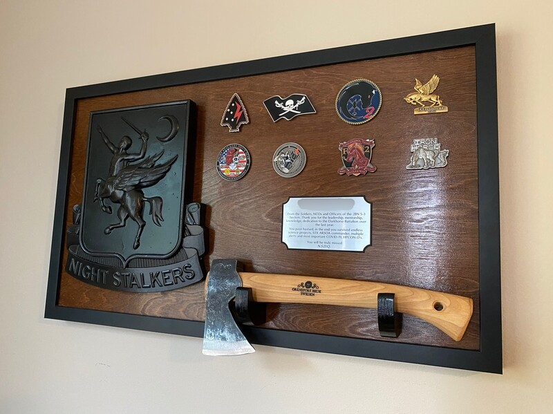 160th - Hatchet Mounting Plaque 28.5