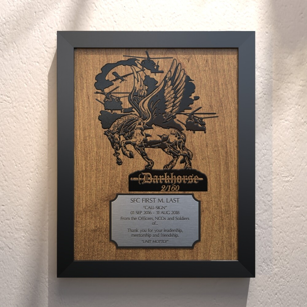 """Darkhorse"" 2-160th Plaque - 13.5""x10.5"""