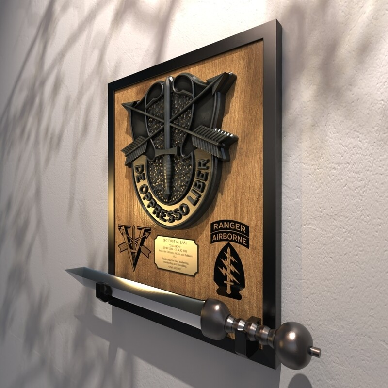 5th Special Forces Group (Abn) - Gladius Mounting Plaque 22.25