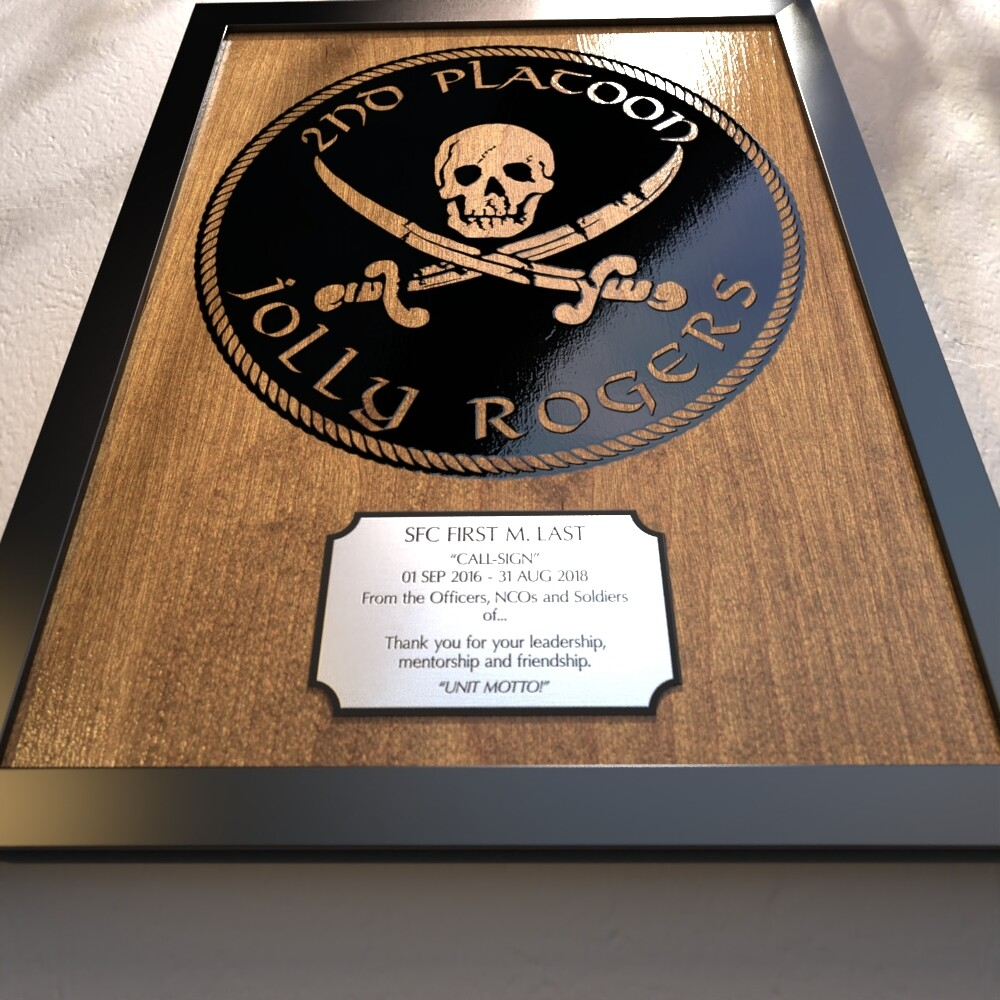 """2nd PLT D Co """"Jolly Rogers"""" 1-506th Plaque - 17.25""""x14.25"""""""