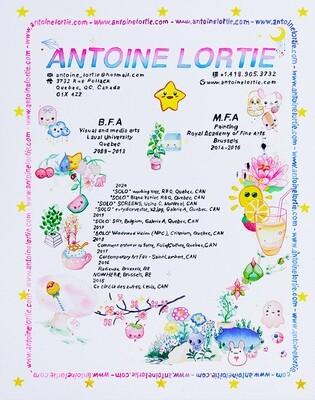 Antoine Lortie, Curriculum Vitae, 48 x 38 cm, 2020.