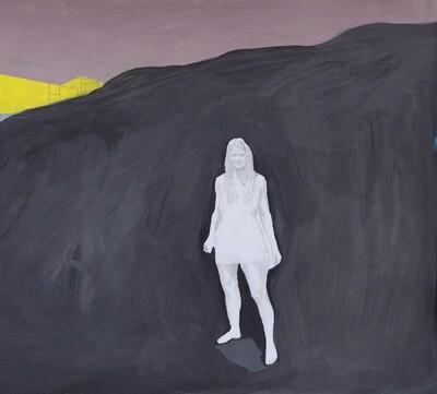Sophie Privé, Rocher, graphite et gouache sur papier, 28 x 32 cm, 2019.