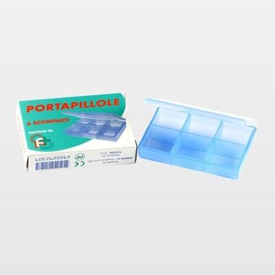 Porta pillole 6 scomparti