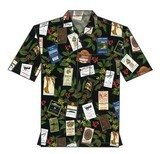 Aloha Shirt with Actual Kona Coffee Labels--size 2 XL ONLY