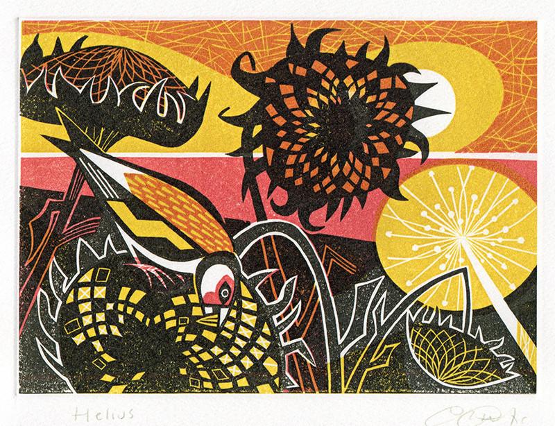 Helius - Printmakers  Art Card