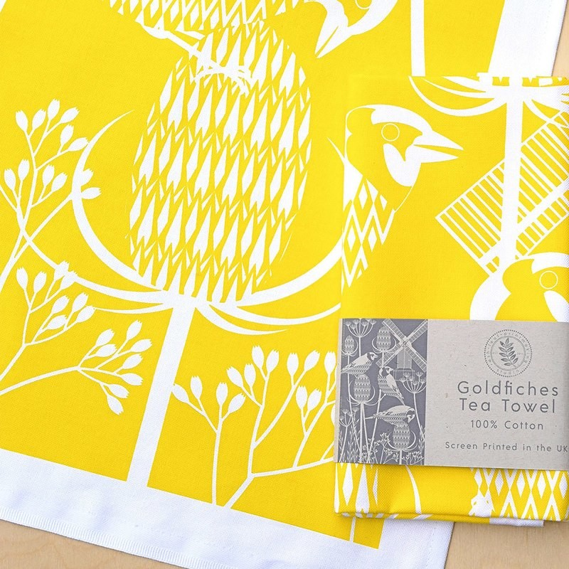 Goldfinches at Oldlands Mill - Tea towel