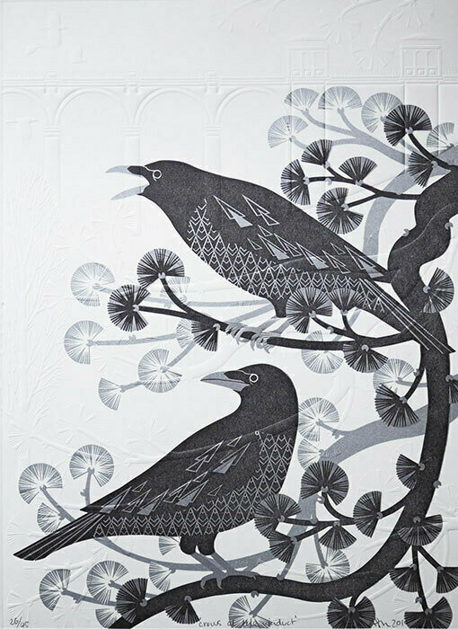 Crows in the Pine tree 'Crows at the Viaduct'