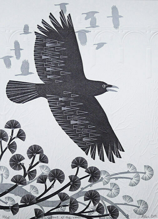 Flying Crow -Crows at the Viaduct