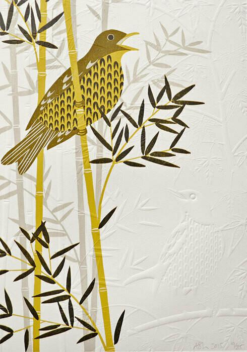 Thrush in Bamboo