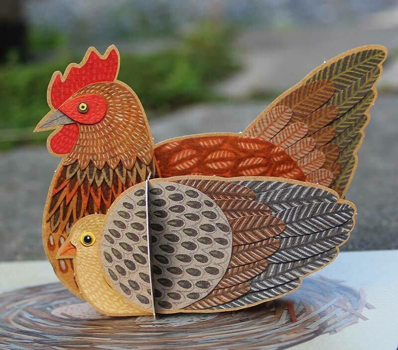 Pop up Pets - Hen 3D Card