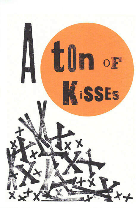 Kisses - Wooden type set Card