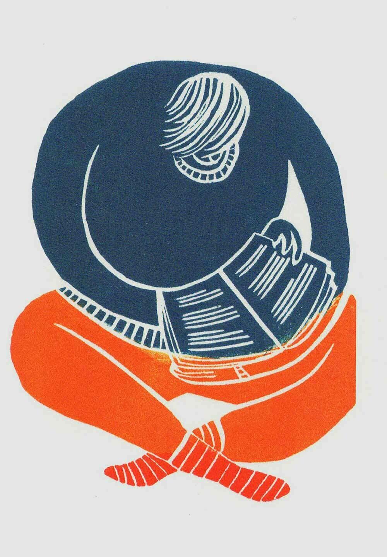 Bookworm - Gallery Artists Card