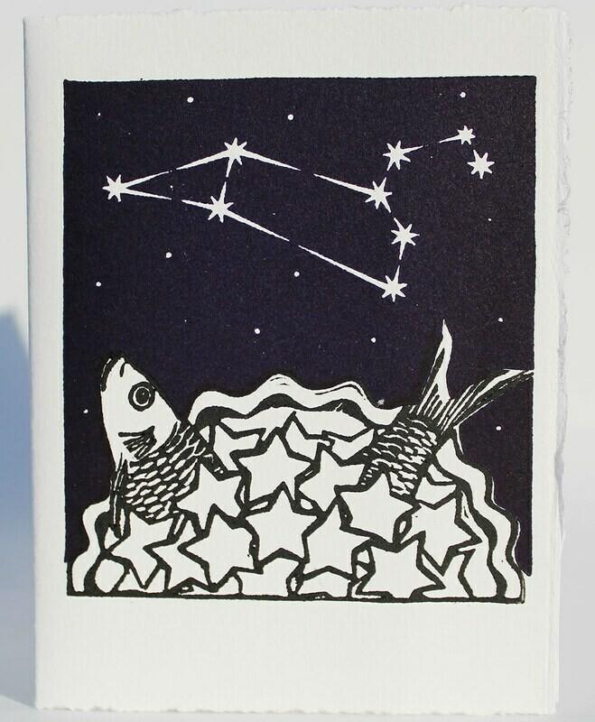 Leo Stargazey   Hand-printed Card