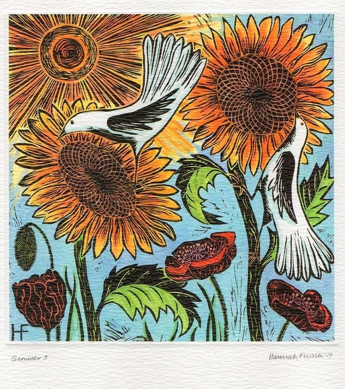 Summer -  Printmakers Art Card