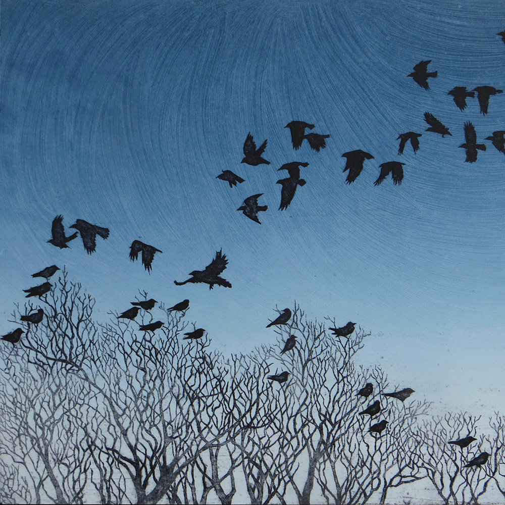 Flying Home to Roost - Gallery Artists Card
