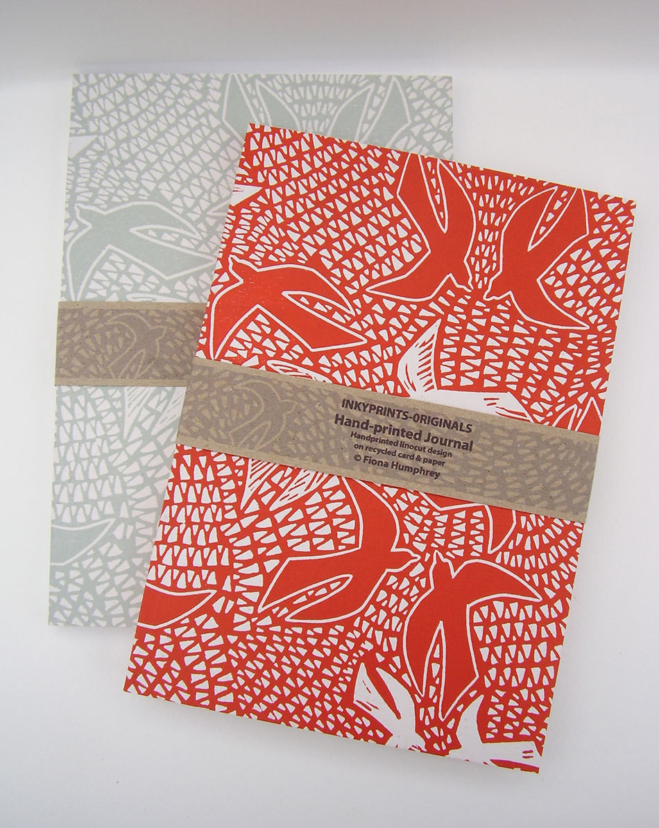 Hand-Printed Journal: Birds