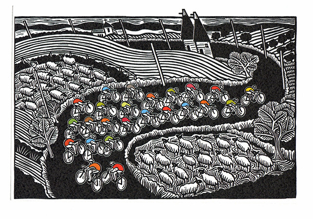Sheep May Safely Graze- Printmakers Card