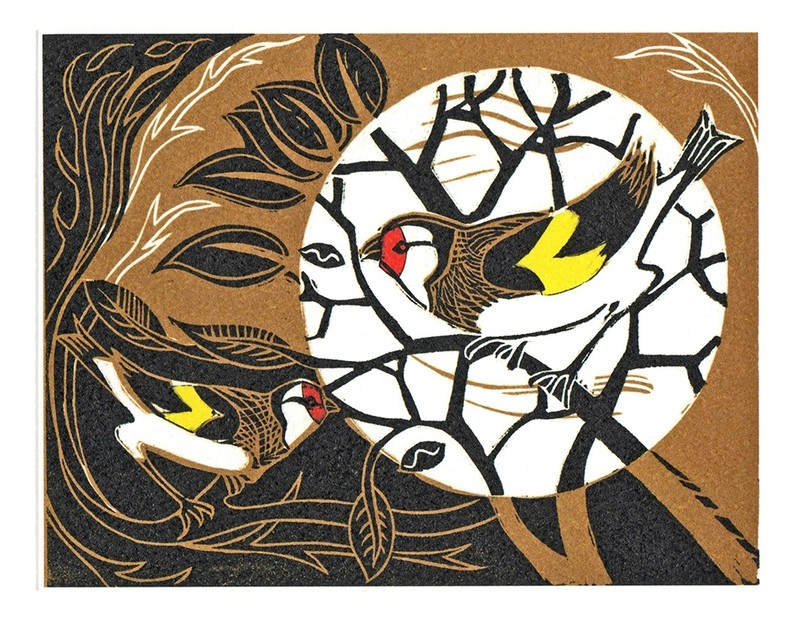 Goldfinches-Printmakers Card