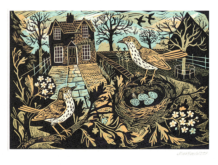Garden Birds- Printmakers Card
