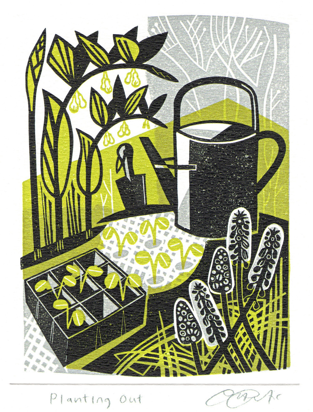 Planting Out- Printmakers Card