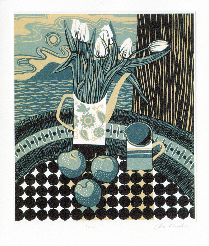 Plums- Printmakers Card