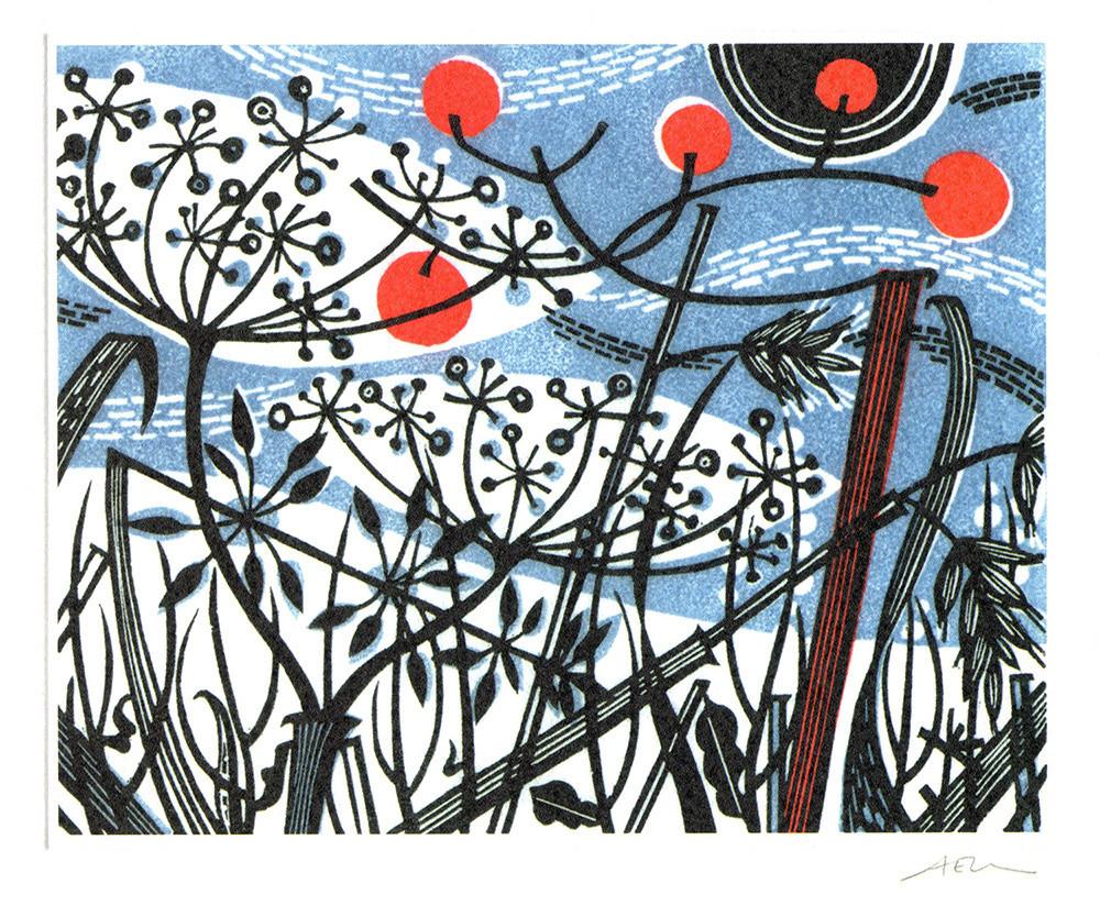 Winter Spey- Winter printmakers Card