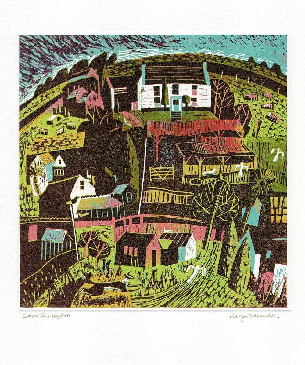Devon Farmyard - printmakers card