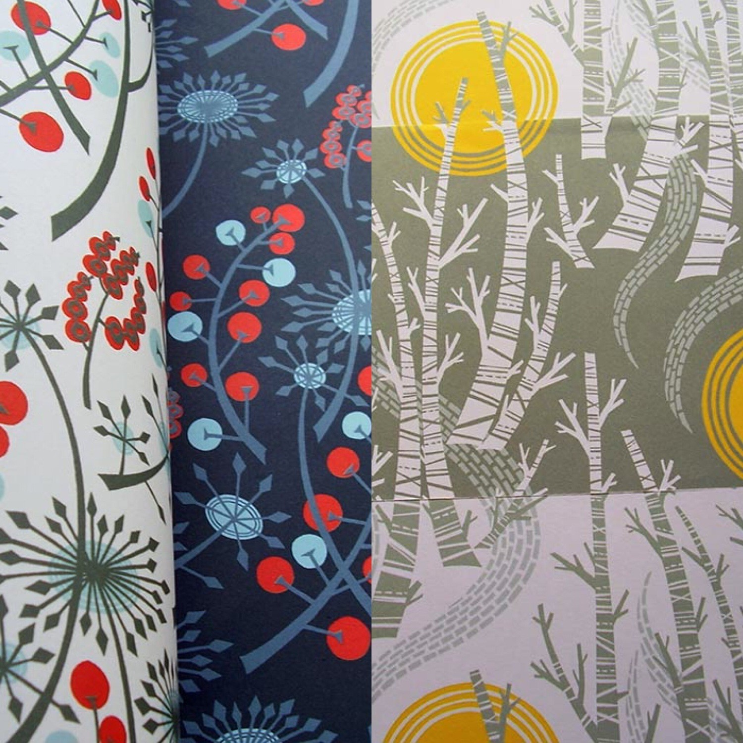 Birch & Hedgerow Gift Wrap Pack- designed by Angie Lewin