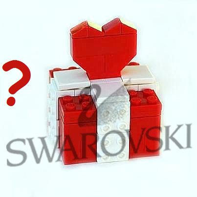 Surprise gift made from LEGO® bricks with or without SWAROVSKI® crystals Type 3
